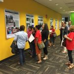Images from Ricardo Gomez's Fotohistorias project are on display at the Allen Library Research Commons.
